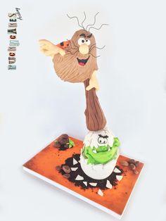 Captain Cave Gravity Defying Cake by Puckycakes