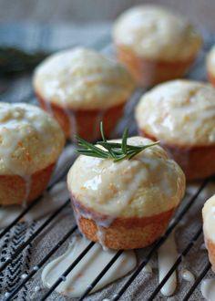 Tuscan Orange Ricotta Muffins with Rosemary-Orange Glaze