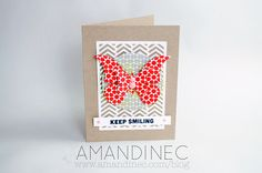 Keep Smiling card made with the Silhouette #Butterfly #Cardmaking