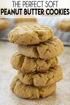 Peanut Butter Cookies are a classic and this recipe is quick and easy to make! These cookies are perfectly soft with rich peanut butter flavor every time! Classic Peanut Butter Cookies, Chewy Peanut Butter Cookies, Best Peanut Butter, Yummy Cookies, Peanut Better Cookies, Peanut Butter Biscuits, Peanut Butter Cookie Recipes, Quick Cookies, Cookies Vegan