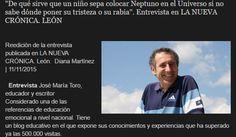"""""""¿De qué sirve que un niño sepa colocar Neptuno si no sabe dónde poner su tristeza o su rabia?"""" José María Toro."""