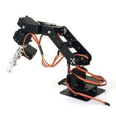 6-Gelenkigen Roboter Arm am Raspberry Pi betreiben (6DOF)