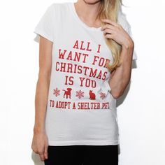 All I Want For Christmas Vintage Tee – The Tree Kisser