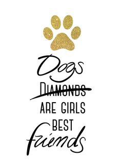 Dogs are girls best friends! Art Print by Cafelab | Society6