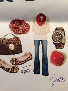 Love the red and leopard!