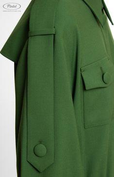 Pintel™ Store — SHINDY — дизайнерское платье в стиле милитари из натуральной шерсти (Италия) для девушек