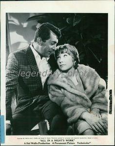 1961 Dean Martin Shirley MacLaine All in Nights Work Original New Service Photo