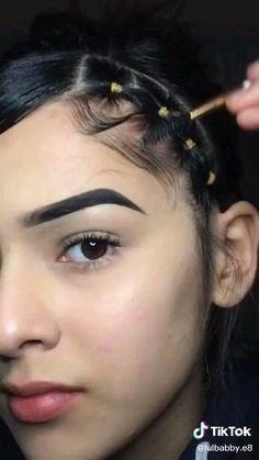 Easy Hairstyle Video, Wavy Hairstyles Tutorial, Braided Hairstyles, Hairdos For Curly Hair, Short Wavy Hair, Hair Streaks, Hair Highlights, Rubber Band Hairstyles, Edges Hair