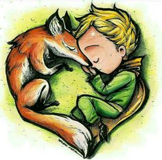 Oh how i love this little Prince and his fox. Prince Nursery, Little Prince Fox, Cute Winnie The Pooh, Cartoon Sketches, Fox Art, Character Design Animation, Pattern Wallpaper, Art Drawings, Illustration Art