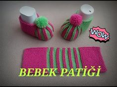 watermelon slice booties, easy baby booties model, two skate booties model, baby booties - Crochet Clothing 2019 - 2020 Baby Booties Knitting Pattern, Crochet Baby Boots, Knit Baby Booties, Booties Crochet, Knitted Slippers, Crochet Slippers, Baby Knitting Patterns, Crochet Patterns, Gestrickte Booties
