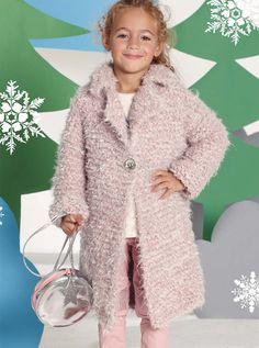 Пальто из трех видов пряжи - схема вязания спицами. Вяжем Пальто на Verena.ru