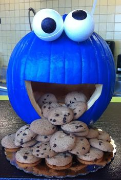 Cookie Monster Jack O'Lantern Platter