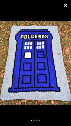 Dr. Who Graphgan pattern! Tardis! Blue police box! Corner to corner crochet pattern. C2c easy crochet pattern   https://www.etsy.com/listing/253325832/crochet-pattern-police-box-graphgan