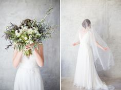 Bridal bouquet Seahorse Floral Design; Fine Art Santa Barbara Wedding and Portrait Photography by Lucia Gill Photography » Rustic Elegance Styled Wedding Shoot - Lucia Gill Photography
