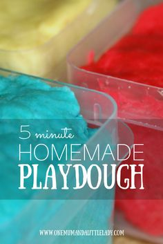 Want to know how to make homemade playdough? This super easy 5 minute homemade playdough recipe without cream of tartar is better than the real thing in my view! It's SO simple to rustle up at home for some indoor creative play and we love it. It's a no bake homemade playdough recipe too, so the kids can get stuck in and make it with you! The perfect answer to creative, sensory fun in minutes!
