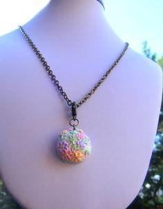 Spring Pastel Necklace Vintage Jewelry Vintage by Sweetystuff, £11.00
