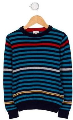 9b23d6ad6 Paul Smith Boys' Striped Crew Neck Sweatshirt