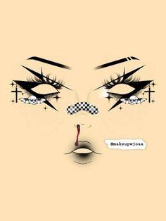 Asian Eye Makeup, Eye Makeup Art, Dark Makeup, Cute Makeup, Makeup Inspo, Makeup Inspiration, Makeup Looks, Makeup Face Charts, Makeup Tumblr