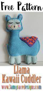 Llama Kawaii Cuddler™ - Free Crochet Pattern : Our free ragdoll Llama crochet pattern makes an adorable amigurumi pillow for the llama lover in your life! Crochet Eyes, Crochet Diy, Crochet Gratis, Crochet Motifs, Crochet Pillow, Crochet Patterns Amigurumi, Love Crochet, Amigurumi Doll, Crochet For Kids