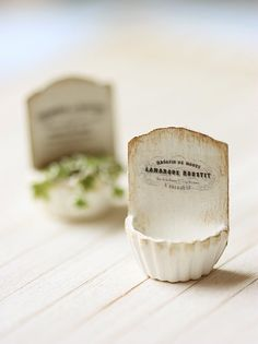 miniature french planter - so cute