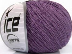 Natural Cotton Baby Lavender Ice Yarns 49962 Ice Yarns, Summer Baby, Lavender, Fiber, Wool, Cotton, Natural, Amigurumi, Lavandula Angustifolia