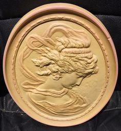 Vintage Chalkware Cameo Wall Plaque Greek Goddess Design by MissHavishamsShop on Etsy