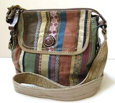 Fossil Modern Vintage Quilt Work Crossbody Handbag Excellent Just