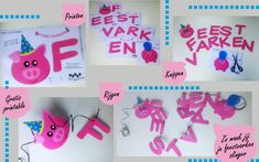 maak je eigen feestvarkens slinger met de gratis printable van helpmijnkindisjarig.com
