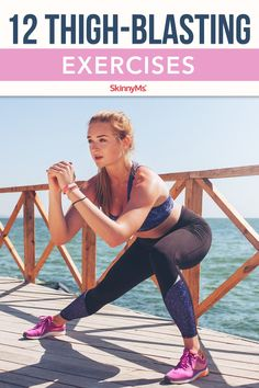 These 12 Thigh-Blasting Exercises hit your thighs inside and out, to help build thigh muscle while blasting fat to give you toned and firm legs. Quads And Hamstrings, Leg Workout At Home, Workout Plans, Thigh Muscles, Skinny Ms, Thigh Exercises, Workout For Beginners, Fun Workouts, Body Workouts