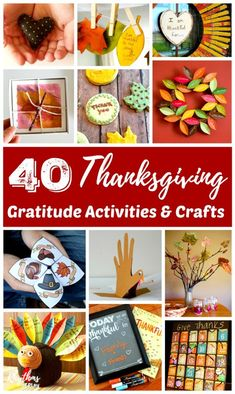 Thanksgiving Gratitude Activities & Crafts - Here's a round-up of our favorite holiday-themed activities and crafts. These provide an easy way for families to cultivate an attitude of gratitude during the Thanksgiving season. Thanksgiving Crafts For Kids, Thanksgiving Activities, Autumn Activities, Thanksgiving Decorations, Craft Activities, Fall Crafts, Holiday Crafts, Holiday Fun, Diy And Crafts