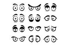 Comic Cartoon Eyes Set  @creativework247