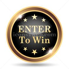 Enter to win icon. Enter to win website button on white background – Icons for your website