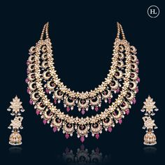 Indian Bridal Jewelry Sets, Indian Jewellery Design, Indian Jewelry, Jewelry Design, Coral Jewelry, Beaded Jewelry, Hazoorilal Jewellers, Sterling Jewelry, Fashion Necklace