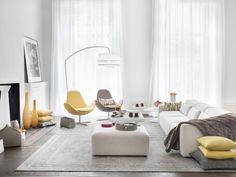greys & pastel yellow