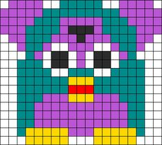 Furby Perler Bead Pattern | Bead Sprites | Characters Fuse Bead Patterns