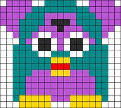 Furby Perler Bead Pattern   Bead Sprites   Characters Fuse Bead Patterns