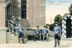 12th Husar Regiment Wache at the main gate of the garrison.