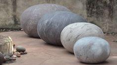 Felt Pebble Cushions by Ronel Jordaan