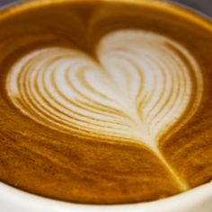Beautiful latte art heart...I miss pouring!