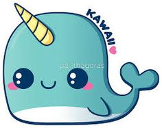 """Kawaii Blue Narwhal"" Stickers by pai-thagoras Cute Cartoon Drawings, Cute Easy Drawings, Cute Kawaii Drawings, Cute Animal Drawings, 365 Kawaii, Anime Kawaii, Kawaii Art, Kawaii Doodles, Cute Doodles"