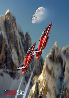 Military Jets, Military Aircraft, Raf Red Arrows, British Armed Forces, Aircraft Painting, Aircraft Photos, Royal Air Force, Jet Plane, Aviation Art
