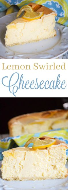 Full of lemon flavor with a hit of tangy lemon curd swirled in and a thin layer of shortbread crust, Lemon Swirled Cheesecake is our favorites Cheesecakes!