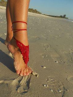 Ravelry: Barefoot Sandals 5-in-1 Crochet Pattern pattern by Kristin Omdahl