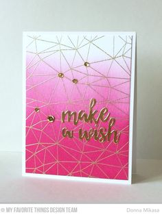 Abstract Background, Brushstroke Birthday Greetings Die-namics - Donna Mikasa  #mftstamps