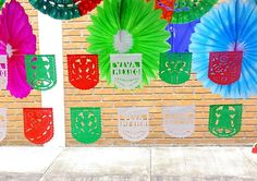 Mexican Party Decorations, Fiesta Party Banners, Papel Picado Paper Banners, Dia de la independendecia , fiestas patrias