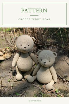 Crochet Teddy Bear Pattern, Crochet Animal Patterns, Crochet Patterns Amigurumi, Crochet Dolls, Handmade Ideas, Handmade Toys, Etsy Handmade, Tutorial Crochet, Job Description