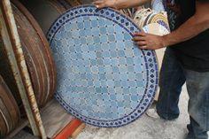 Moroccan Mosaic Tile Table 36 Rnd 003 Jpg