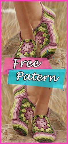 Slippers Crochet Free Pattern Granny Rose  crochet  crochetpatterns   freepattern  crocheting Horgolt Papucsok f02b0e54ec