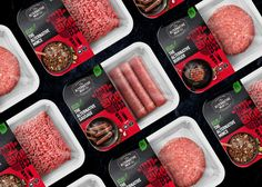 The Alternative Meat Co — Redfire: Creative Design Agency Food Packaging Design, Packaging Design Inspiration, Food Design, Creative Design, Meat Store, Meat Packing, Supermarket Design, Organic Meat, Fruit Shop