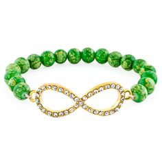 Pugster Fashion Friendship Crystal Sideways Beads 7 5inch Infinity Bracelets E00 | eBay